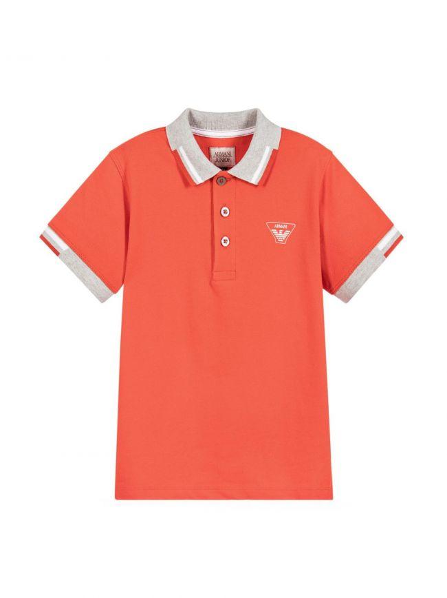 Orange Tipped Collar Polo Shirt