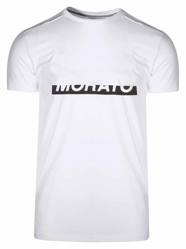 White Raised Logo T-Shirt