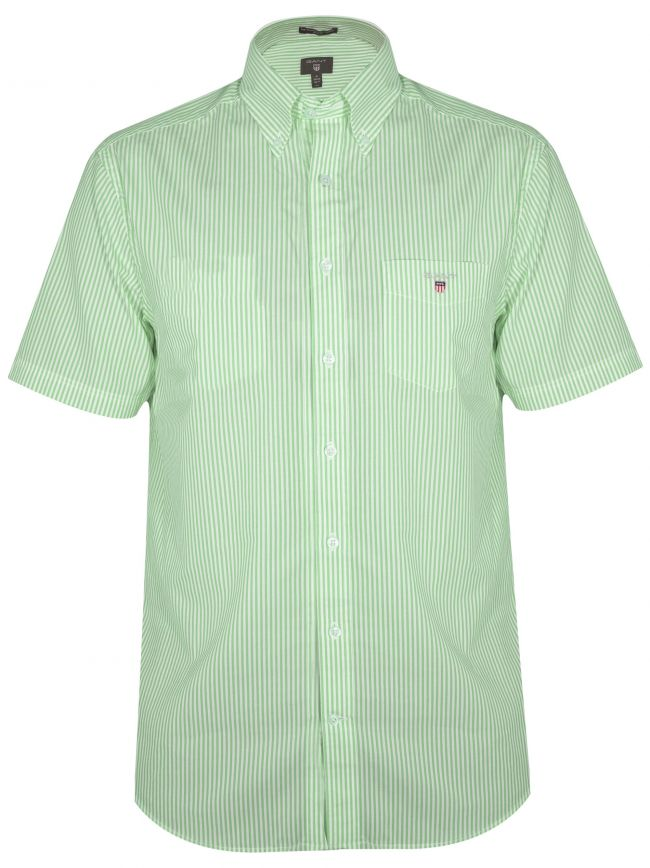 Spearmint Striped Regular Short-Sleeve Shirt