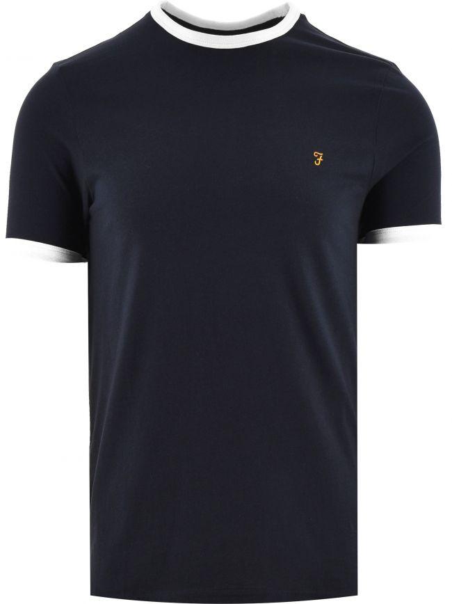 Navy Groves Ringer T-Shirt