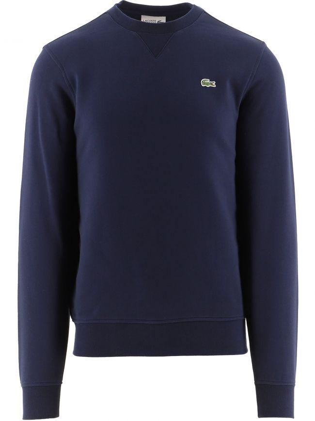 Navy Cotton Blend Fleece Sweatshirt