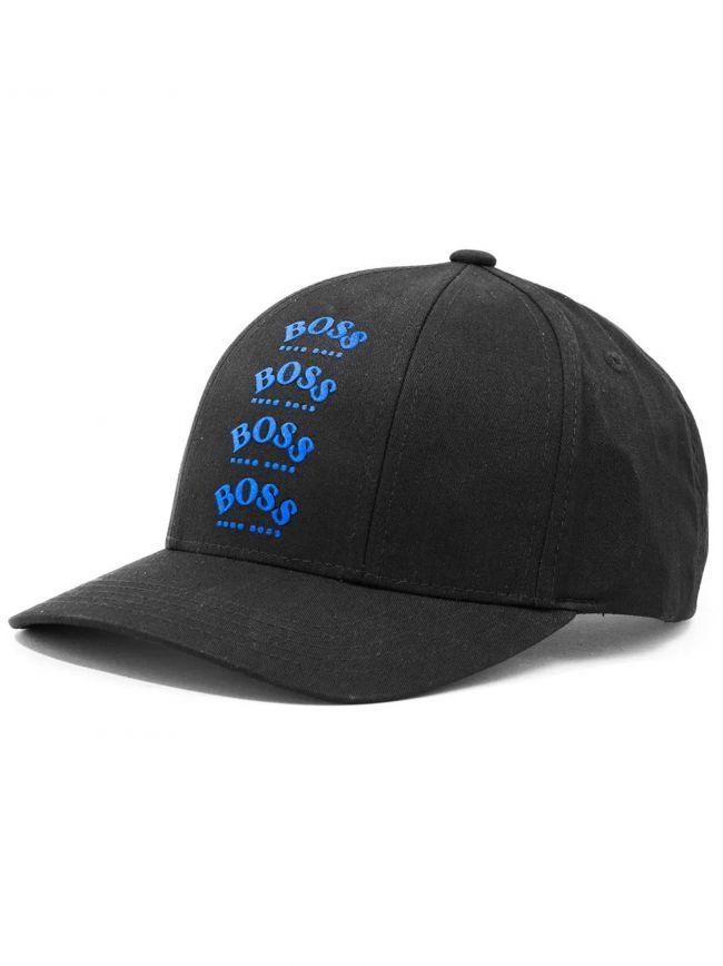Black Multi Logo Cap