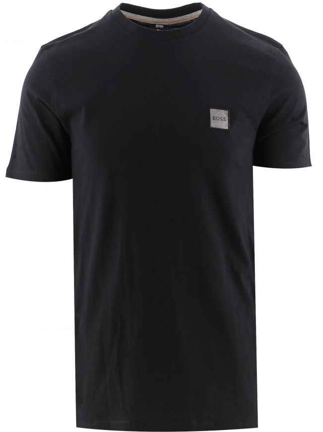 Black Crew Neck Organic Cotton Tales 1 T-Shirt