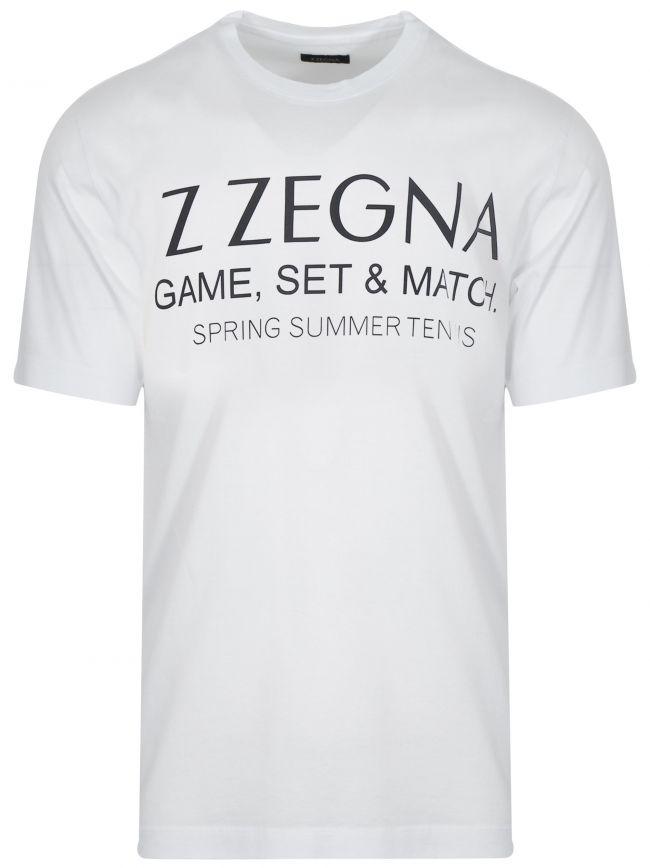 White Chest Logo T-Shirt