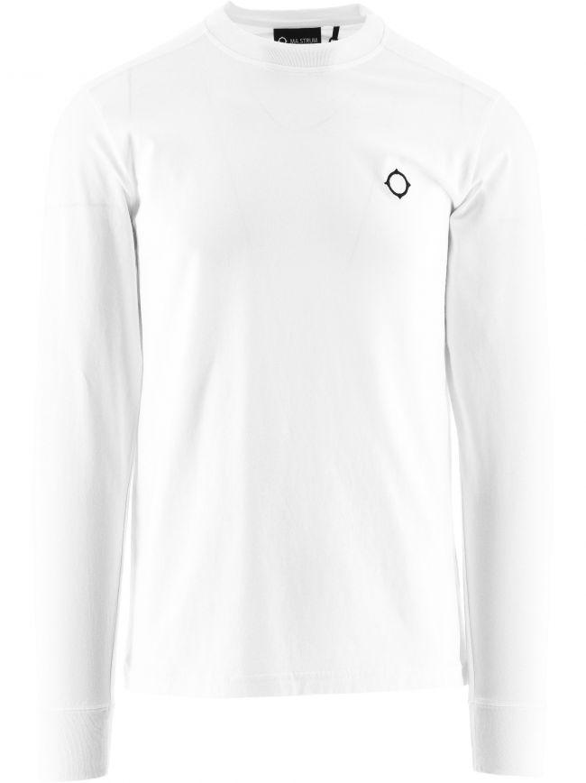 White Long Sleeve Icon T-Shirt