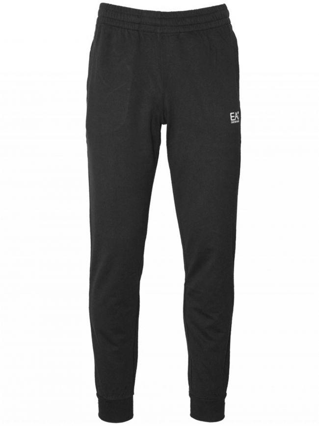 Black Taped Logo Jog Pant