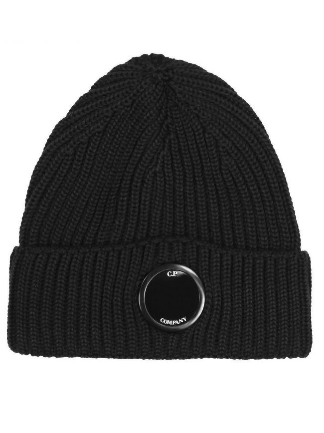Black Lens Beanie Wool Hat