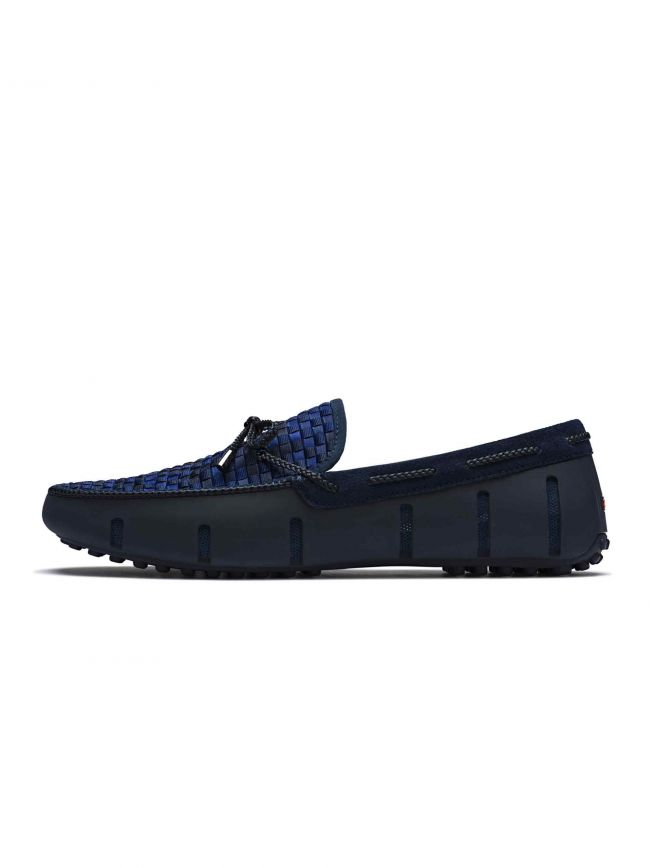 Navy Woven Lace Loafer