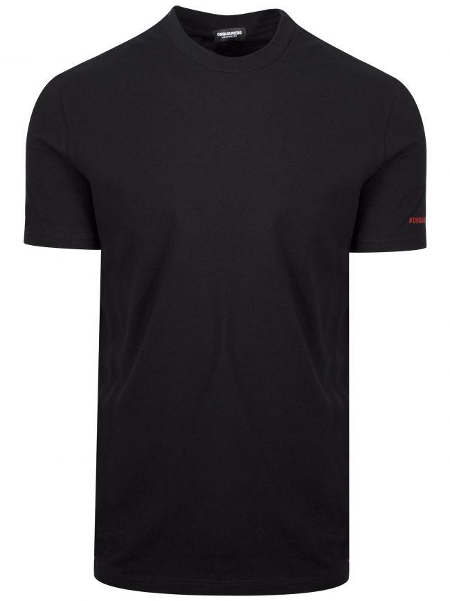 Black Hashtag Logo T-Shirt