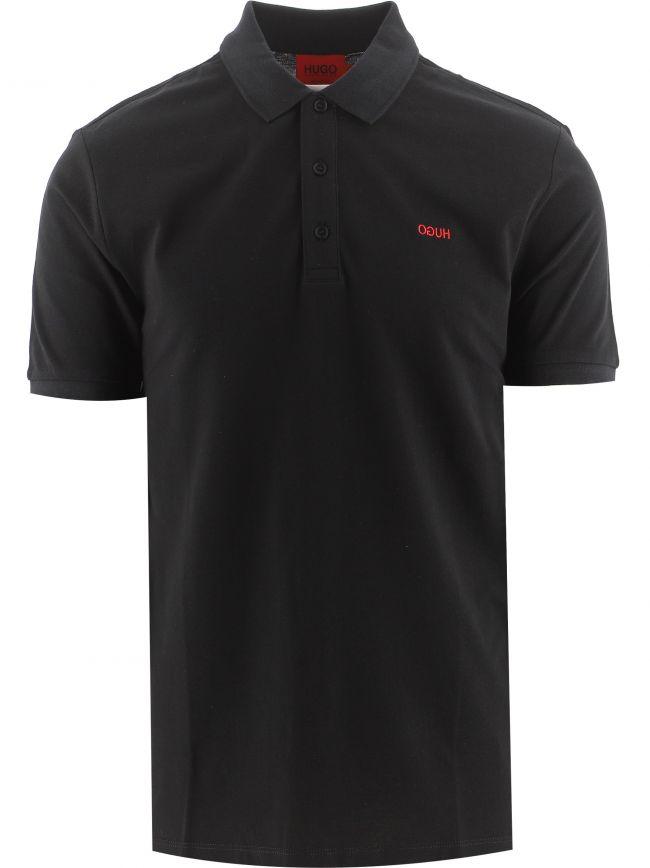 Black Cotton Donos 212 Polo Shirt