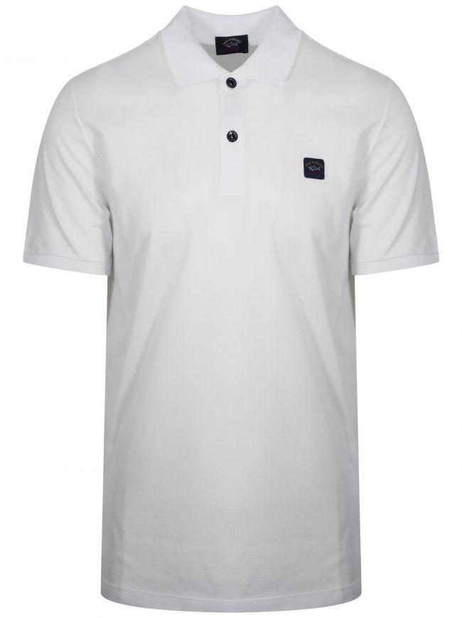 White Classic Short-Sleeve Polo Shirt