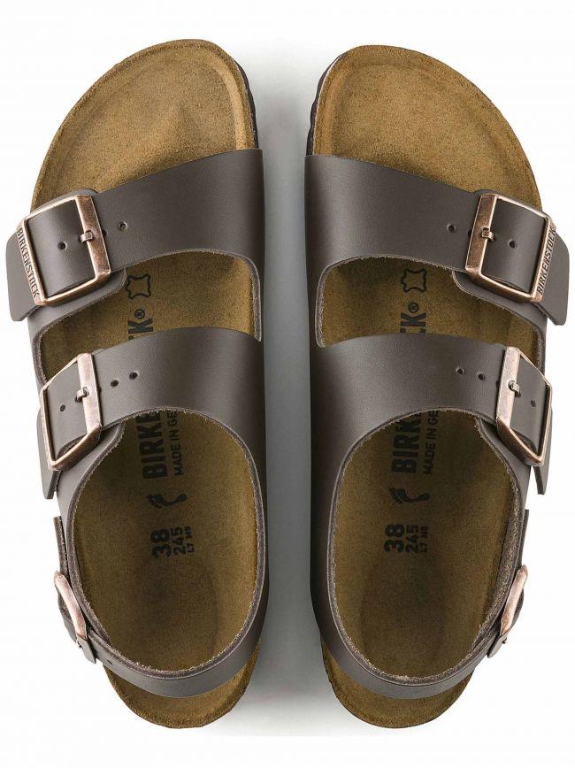 Dark Brown Milano Leather Sandal