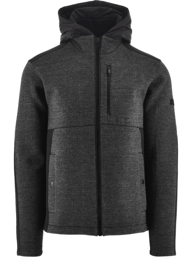 Black Technical Fabric Hoodie