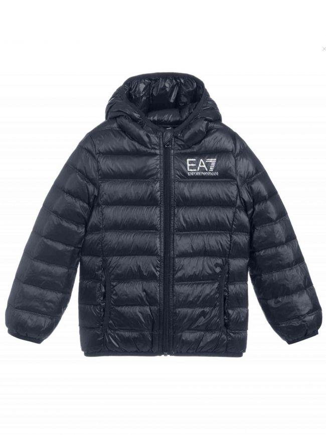 Navy Down Hooded Jacket