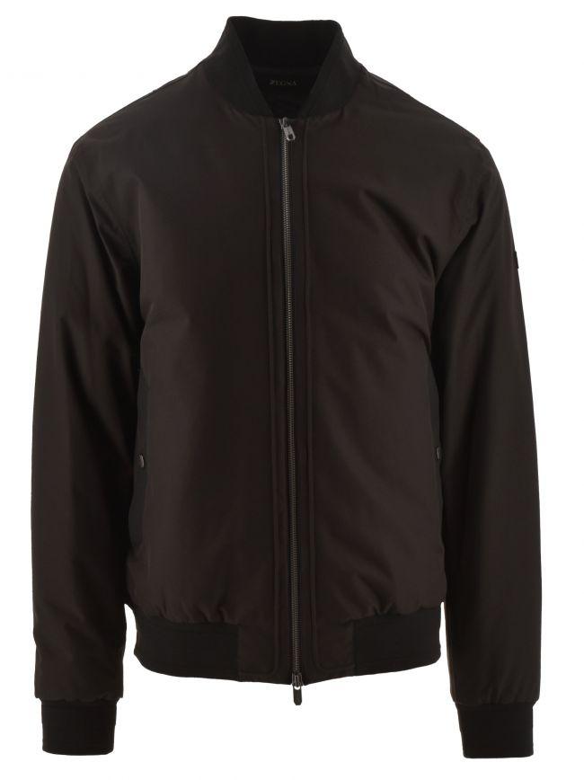 Black Nylon & Cotton Jacket