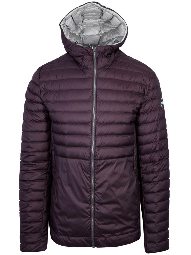 Burgundy Down Filled Hooded Jacket