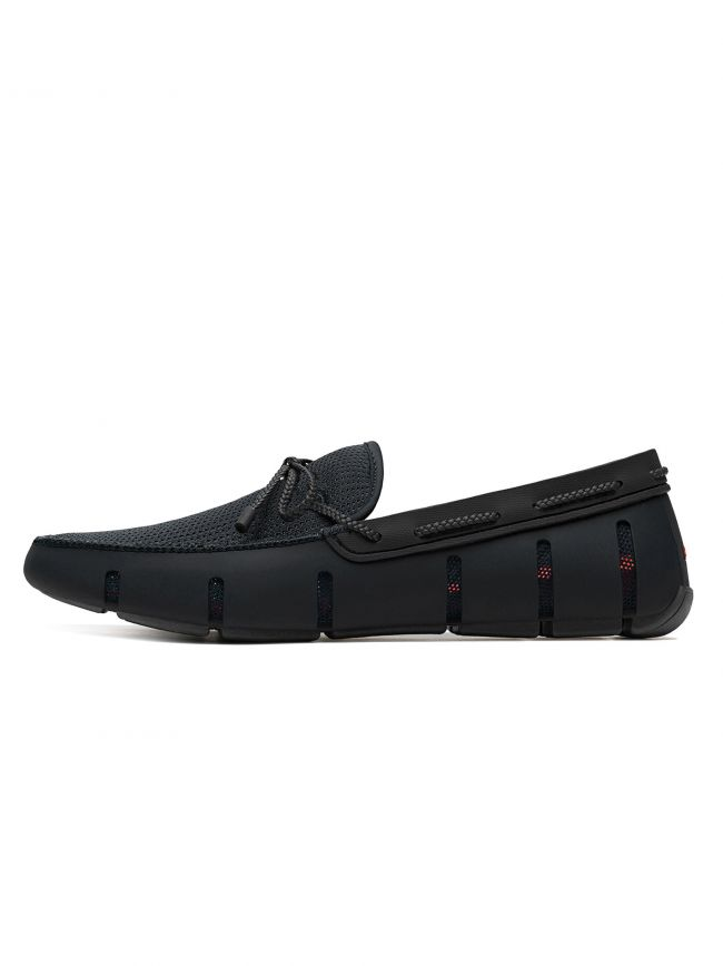 Black Braided Lace Loafer