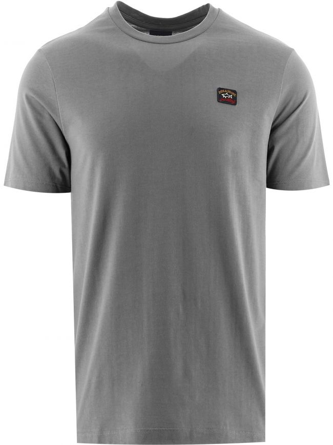 Grey Heritage Logo Egyptian Cotton T-Shirt