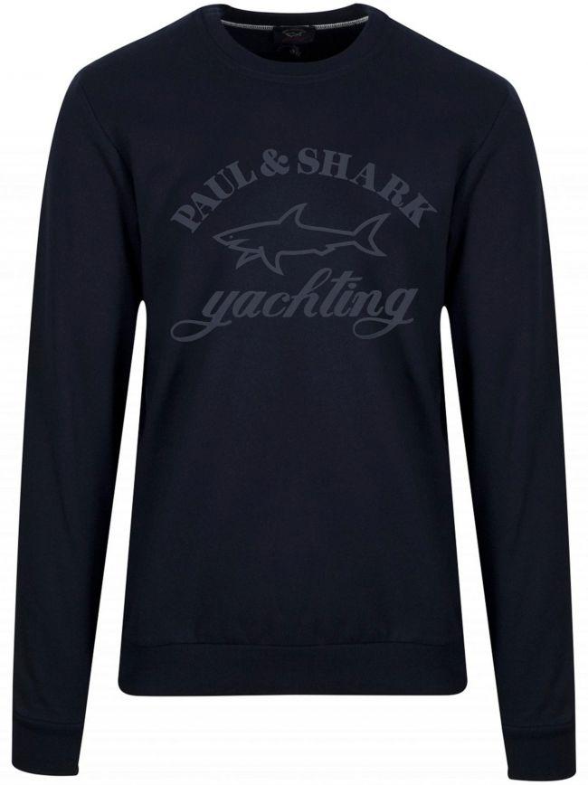 Navy Printed Logo Sweatshirt