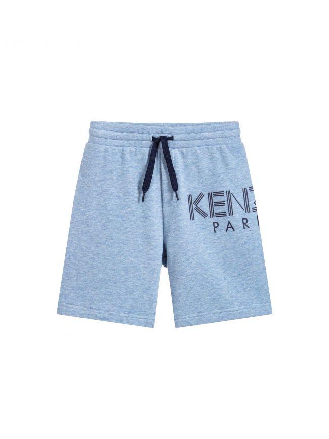 Light Blue Marl Cotton Shorts