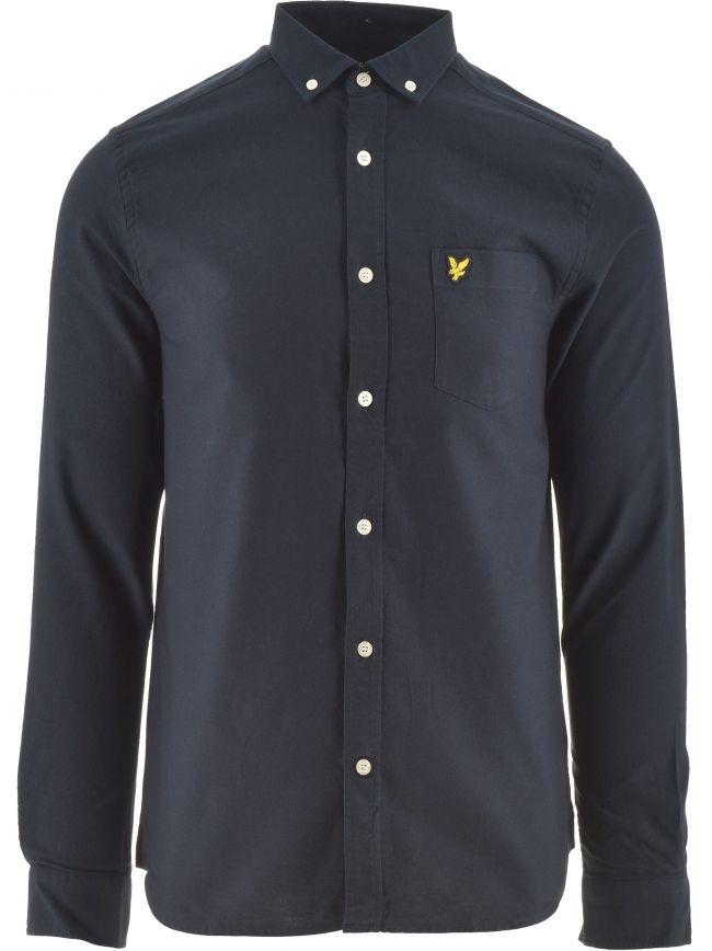 Dark Navy Regular Fit Lightweight Oxford Shirt