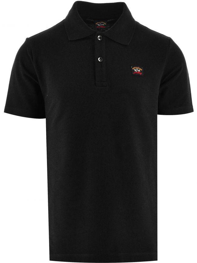 Black Heritage Logo Cotton Pique  Polo