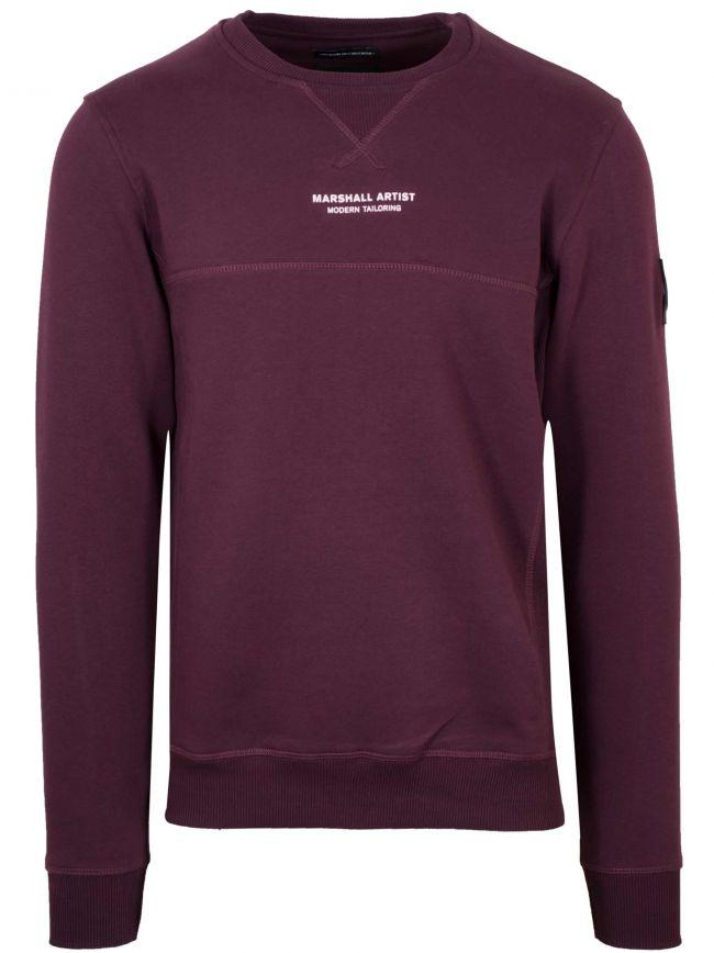 Burgundy Crew Neck Sweatshirt