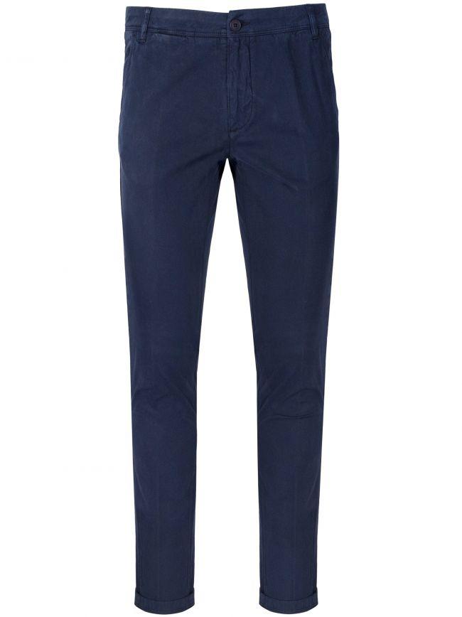 Marine Blue Moleskin Trousers