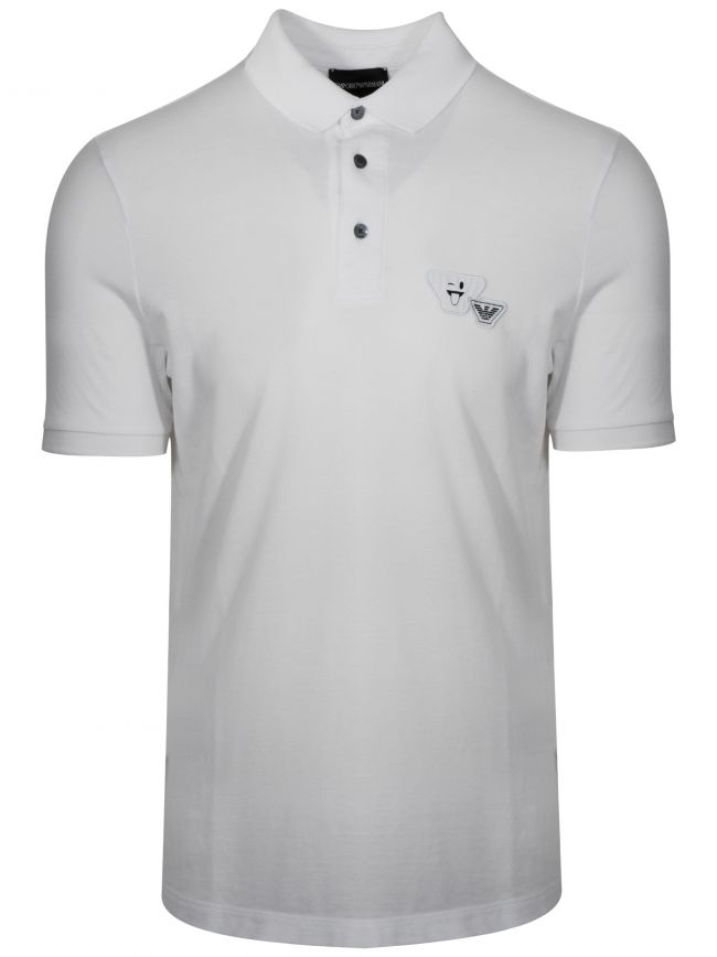 White Smile Logo Polo Shirt