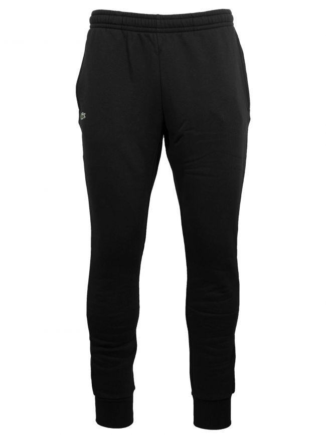 Black Jersey Cuffed Jog Pant