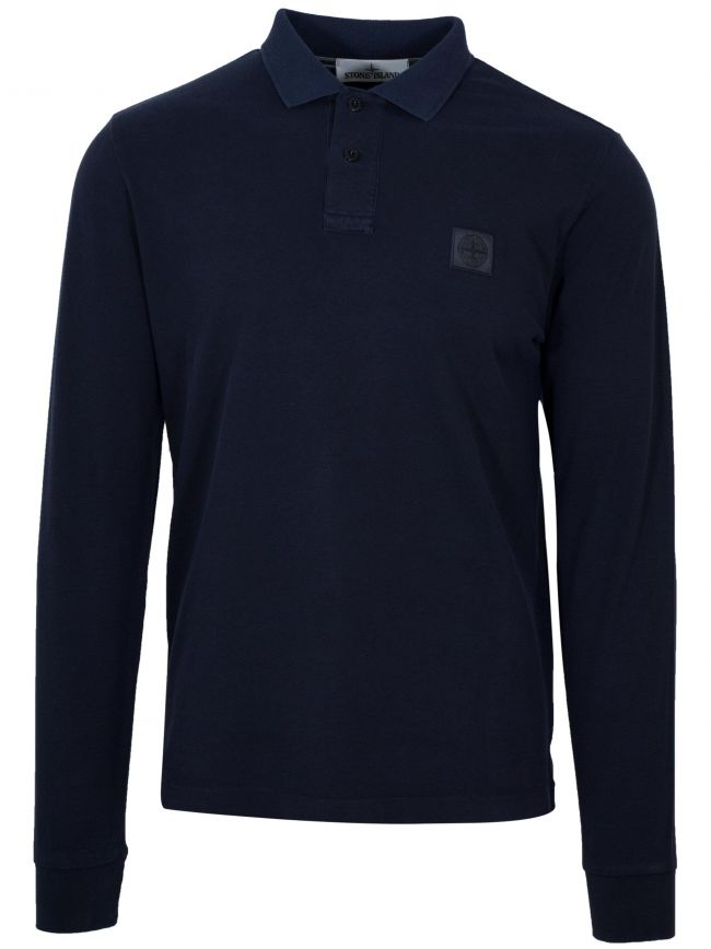 Navy Garment-Dyed Polo Shirt