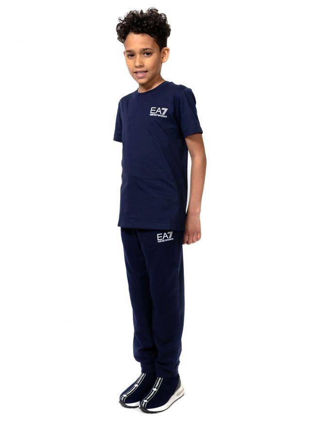 EA7 Kids Navy Logo T-Shirt