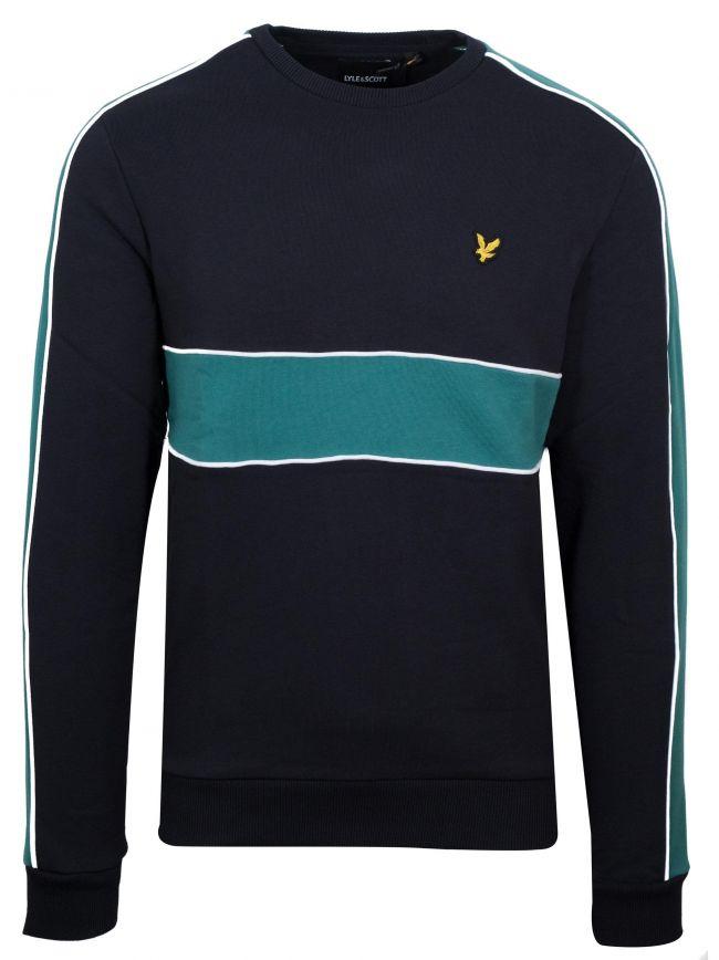 Black Cut & Sew Sweatshirt
