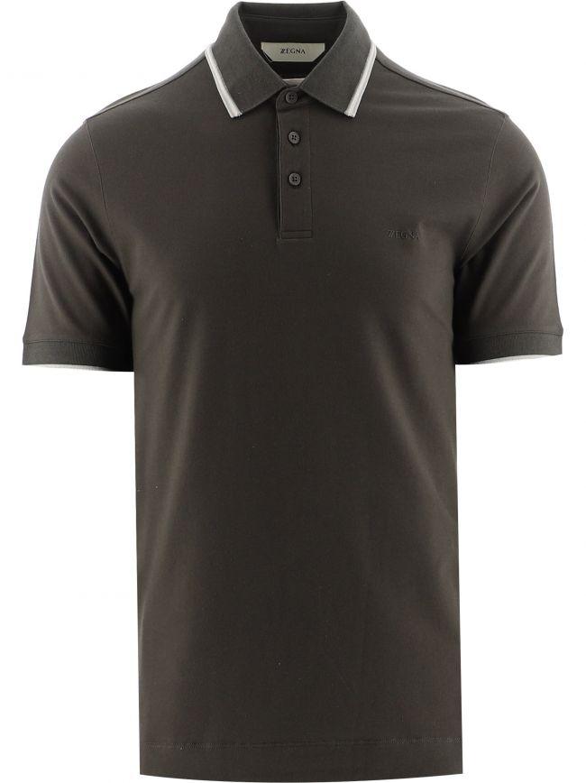 Green Short Sleeve Pique Polo Shirt