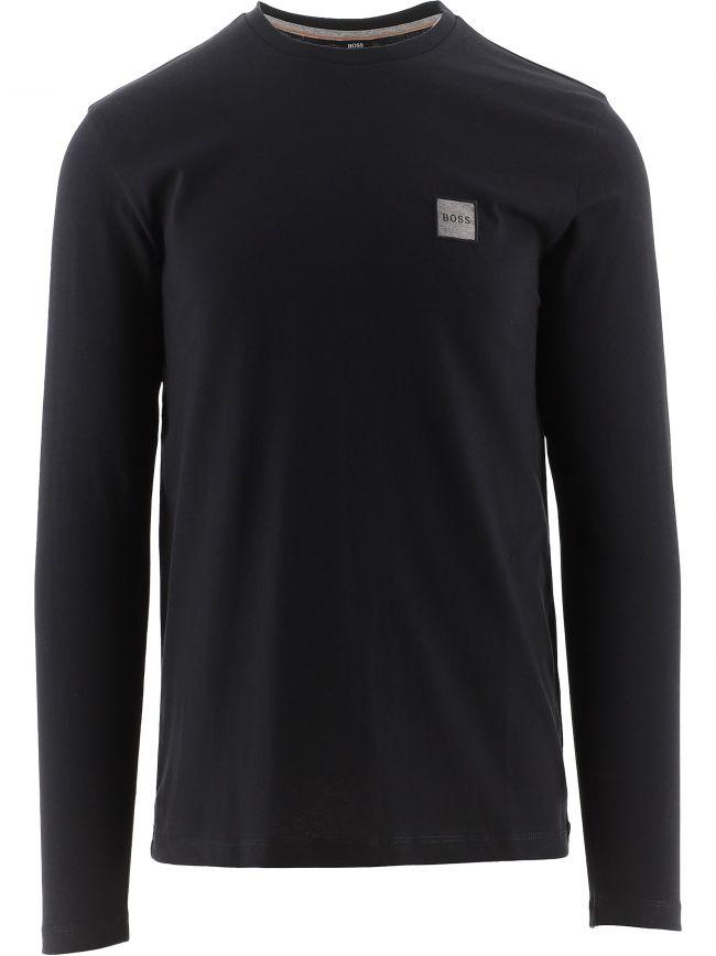 Black Long Sleeved Organic Cotton Tacks 1 T-Shirt