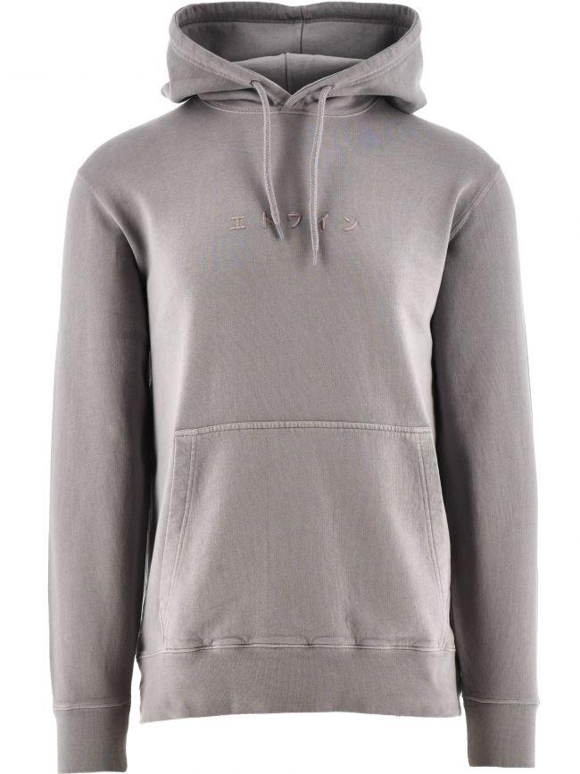 Frost Grey Katakana Hooded Sweatshirt