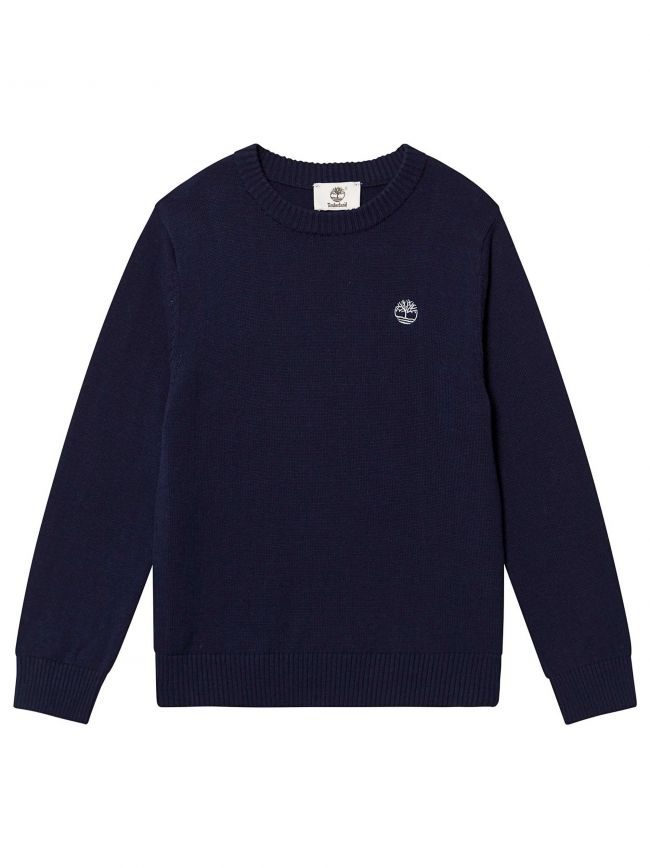 Crew Neck Navy Logo Jumper