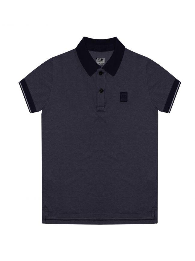 Navy Blue Contrast Polo Shirt