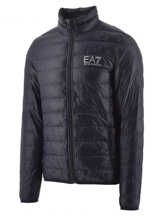 Navy Down Filled Lightweight Slim Fit Jacket