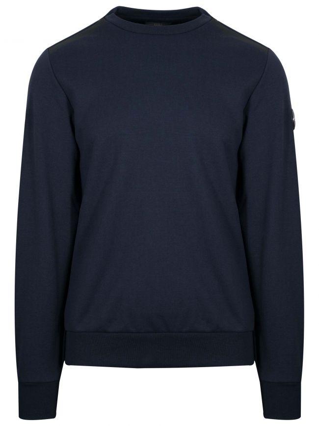 Navy Metal Logo Sweatshirt