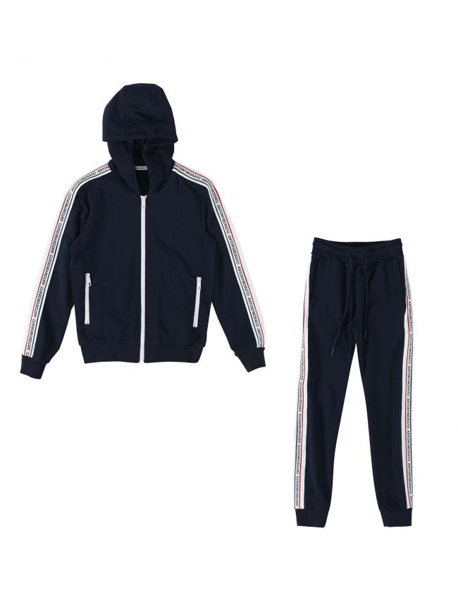 Navy Blue Taped Logo Tracksuit