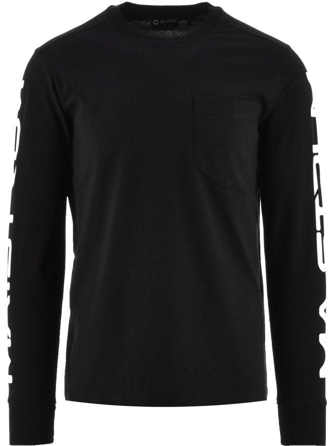 Black Sleeve Print T-Shirt