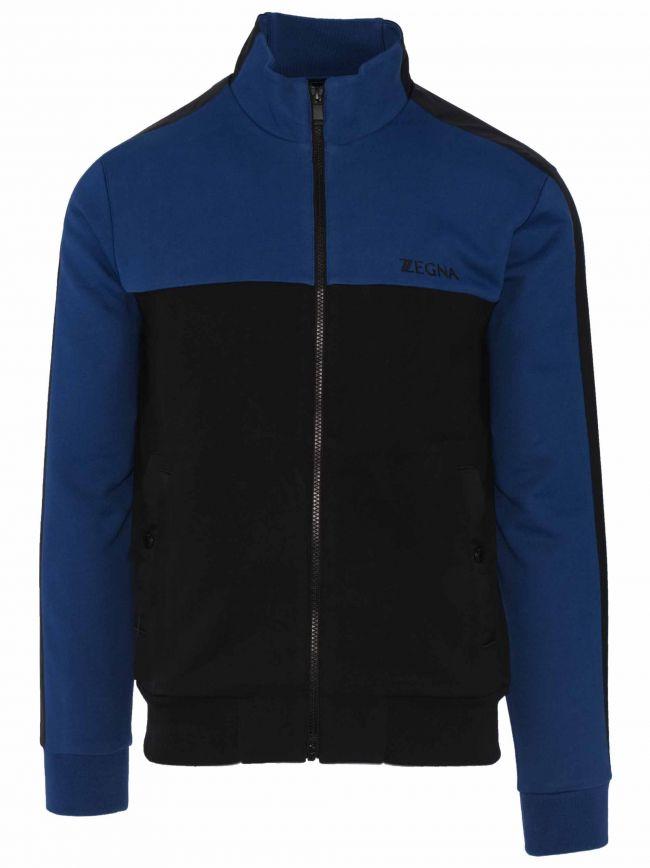 Black and Blue Zip Top