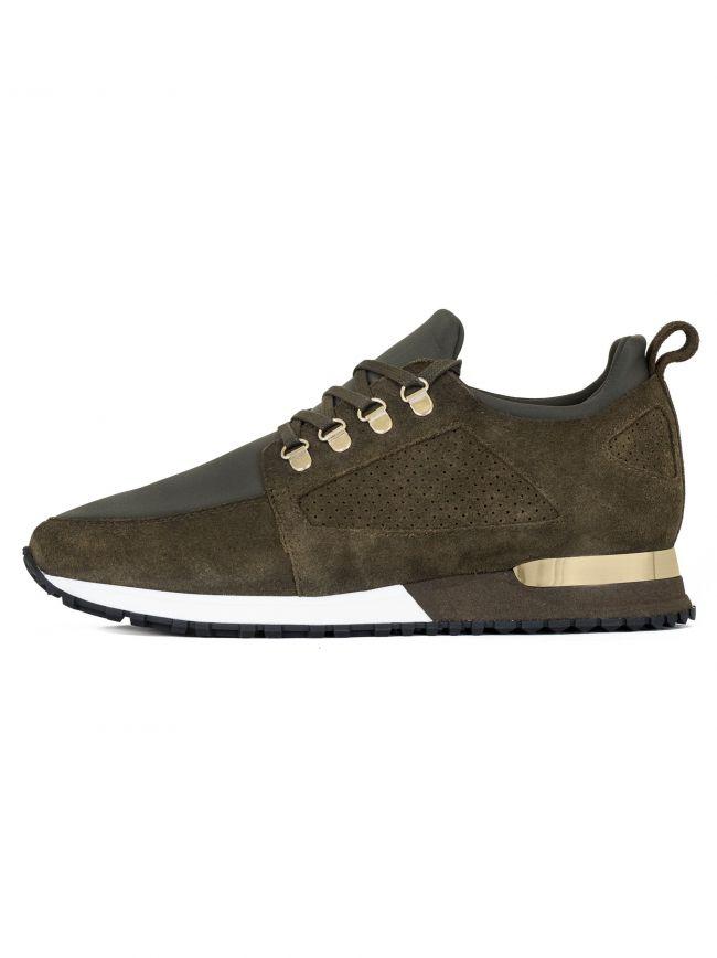 Khaki Suede Hiker Sneaker
