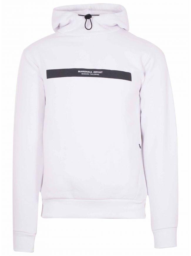 White Iridescent Hooded Sweatshirt