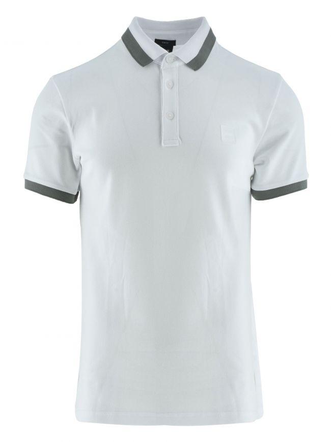 PTrans White Slim Fit Polo Shirt