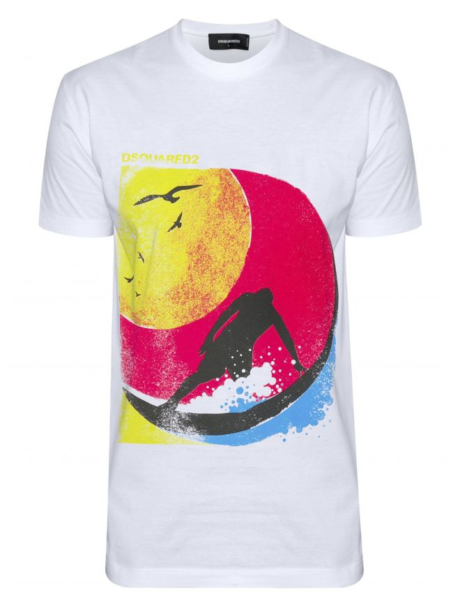 White Surf Graphic T-Shirt