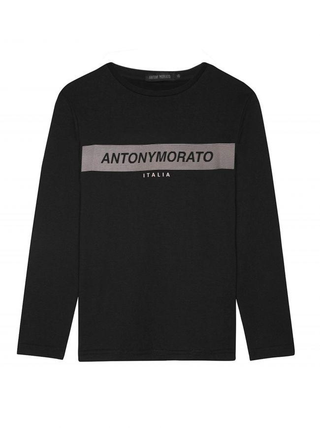 Black Long-Sleeved Logo T-Shirt