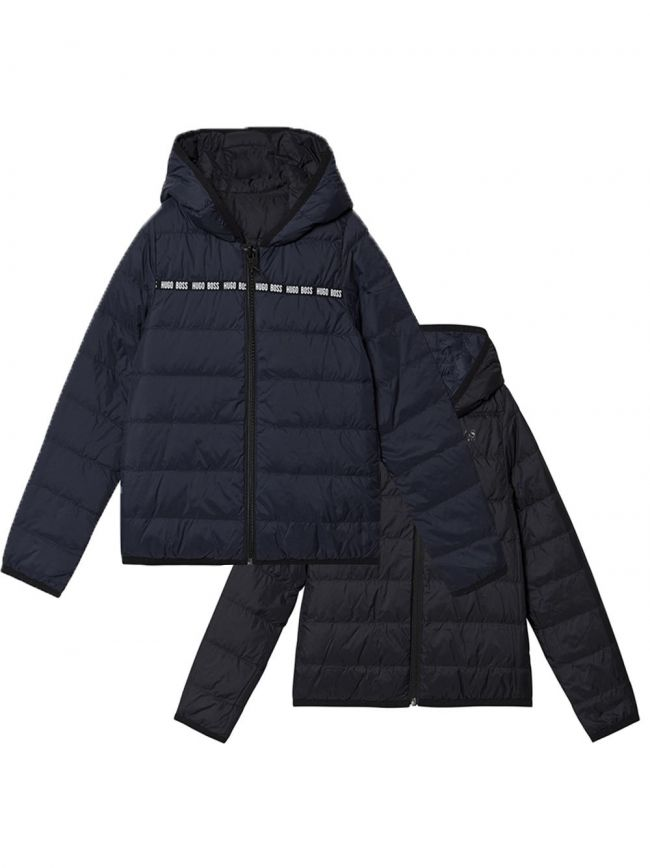 Navy & Black Down Filled Reversible Jacket