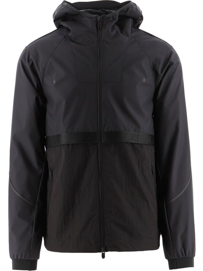 Black UseTheExisting Hooded Jacket